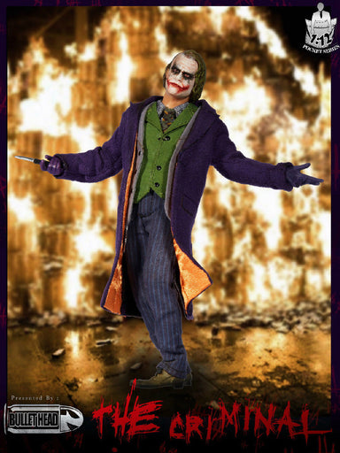 In-stock 1/12 Scale Bullet Head BH001 Joker Action Figure