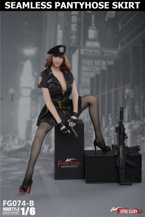 In-stock 1/6 FIRE GIRL Pantyhose Female Police Costume Set FG074