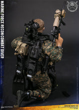 Pre-Order DAMTOYS 1/6  Marine Force Recon Combat Diver Woodland Marpat Ver 78055