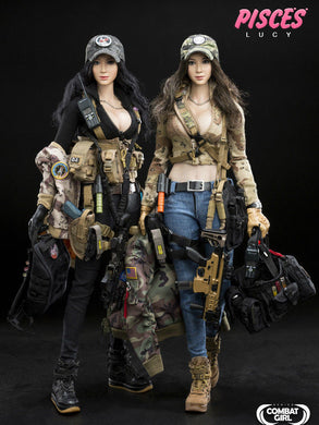 In-Stock 1/6 DAMTOYS COMBAT GIRL SERIES PISCES DCG003 NANA & DCG004 LUCY