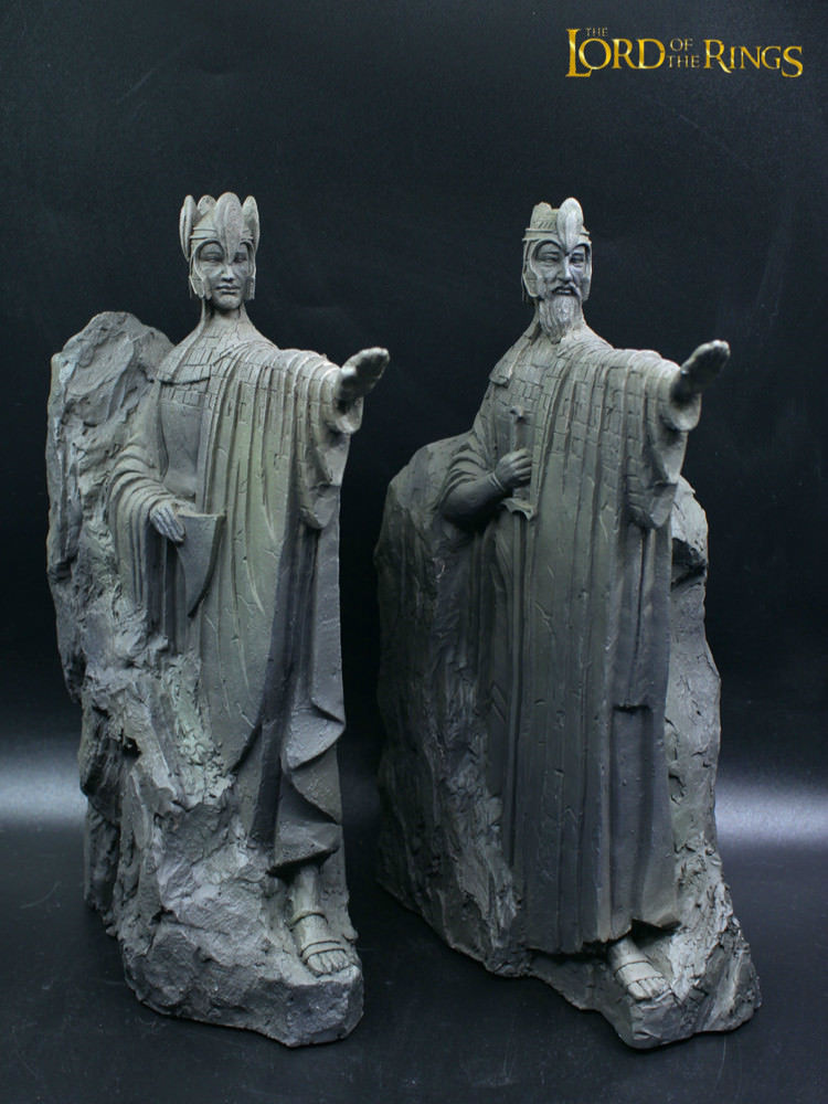 Custom The Gate of Gondor Agnes statue Bookend 14cm Resin Ring Lord 2PC