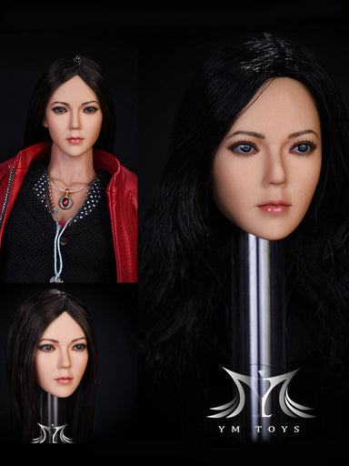 "In-Stock 1/6 Scale YMTOYS ""Song"" Female Head Sculpt Asian"