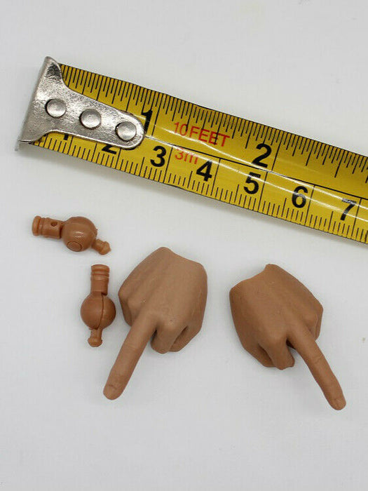 In-stock 1/6 Scale Middle-Finger-Gesture Hands 1 Pair