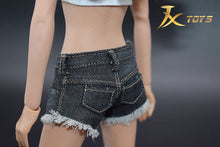 1/6 Scale JXTOYS JX-017 Vest + Denim Shorts Female Clothes Set