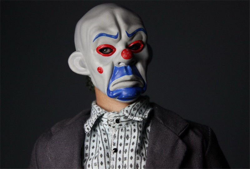 In-Stock 1/6 Scale Joker Bank Robber Heath Ledger Head Sculpt The Dark Knight