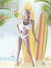 In-Stock 1/6 Scale Anthotis Female Beach Bar Bikini Clothes Set For Onesixth Action Figure