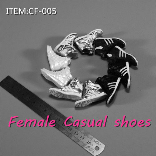1/6 Scale Female Fashion Sneakers CF-005 For Pegs