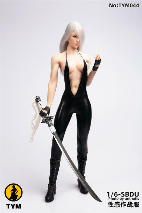 In-stock 1/6 TYM TYM044 SBDU Tight Jumpsuit For 12'' Seamless Figure