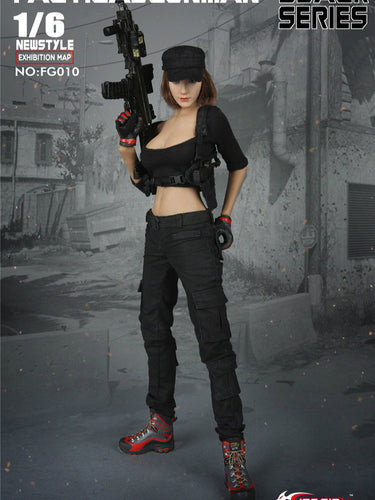 Pre-order FG010 Fire Girl Black Tactical Shooter Clothes Set