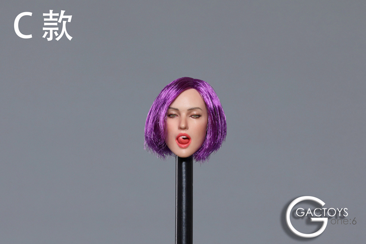 1/6 Scale GACTOYS GC021 Female Head With Seductive Expression H#Suntan