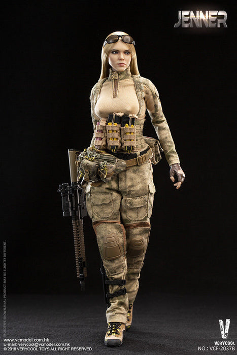 In-Stock 1/6 Scale VERYCOOL VCF-2037 A-TACS FG Double Women Soldier - JENNER
