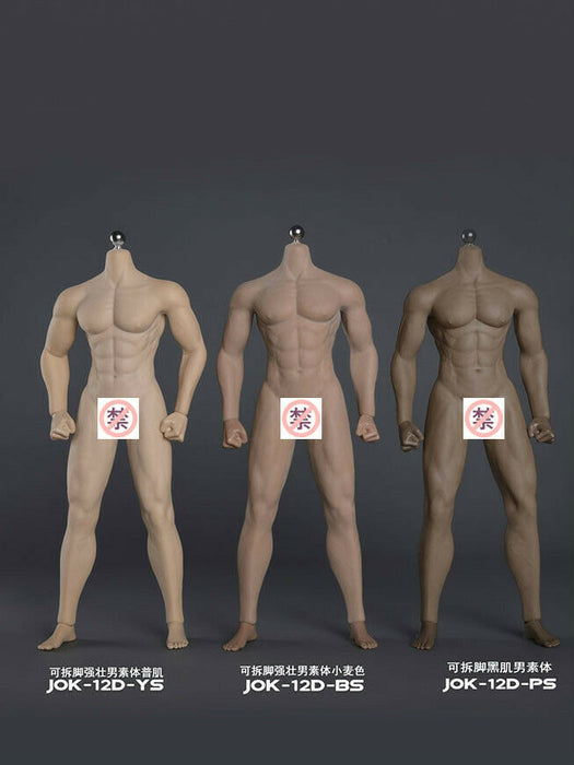 In-stock 1/6 JIAOU DULL Seamless Male Body 12D Strong Series