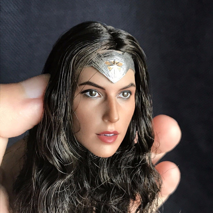 1//6 Female Head Sculpt Gal Gadot Wonder Woman Braided For Hot Toys Phicen Figure