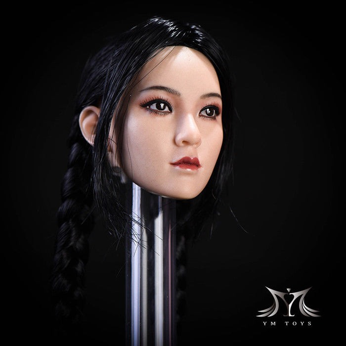 "In-Stock 1/6 Scale YMTOYS "" Ying "" Female Asian Head Sculpt"