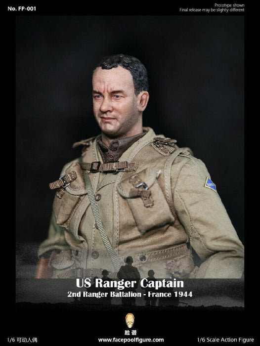 In-stock 1/6 Facepool FP001 US Ranger Captain Action Figure