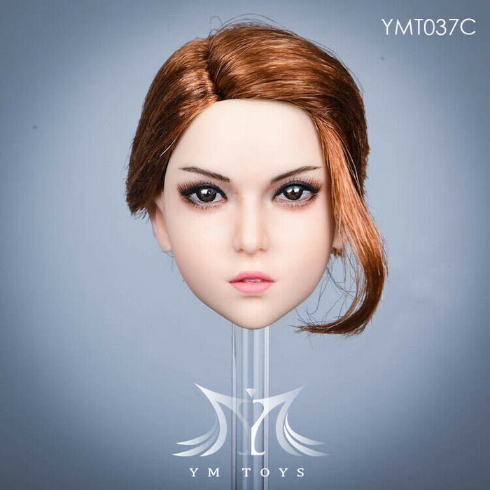 In-stock 1/6 Scale YMTOYS YMT037 Marie Female Head Sculpt H#Suntan