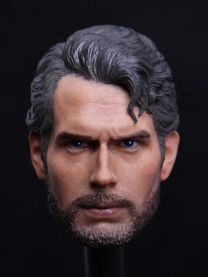 1/6 Head Sculpt For Henry Cavill Superman Beard Worker Drifter