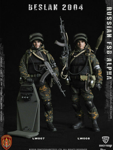 Pre-order 1/12 Crazy Figure Russian Alpha Special Forces LW007 LW008 Figure