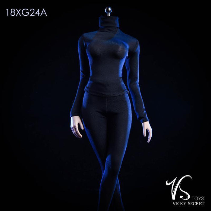 In-Stock 1/6 Scale VSTOYS 18XG24 Female Jumpsuit Stealth Clothes Set 12in Figure