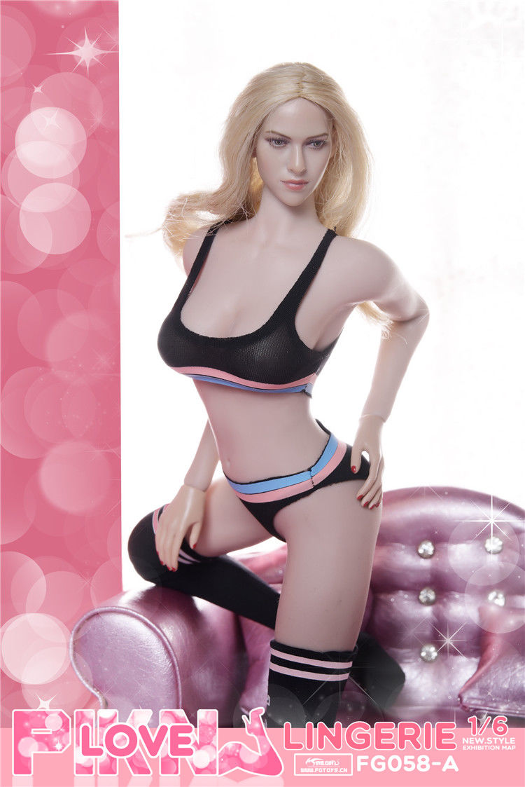 In-Stock Fire Girl Toys 1/6 Scale FG058 three color sports underwear suit
