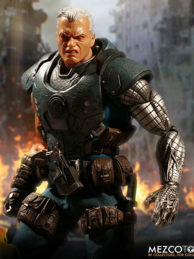 "In-stock 1/12 Scale MEZCO TOYS 76860 ""CABLE"" Action Figure LED Feature"