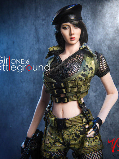 In-stock 1/6 VSTOYS 18XG13 Battleground Girl Clothes Set