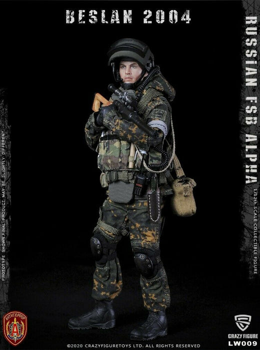 In-stock 1/12 Crazy Figure Russian alpha special forces LW009 LW010