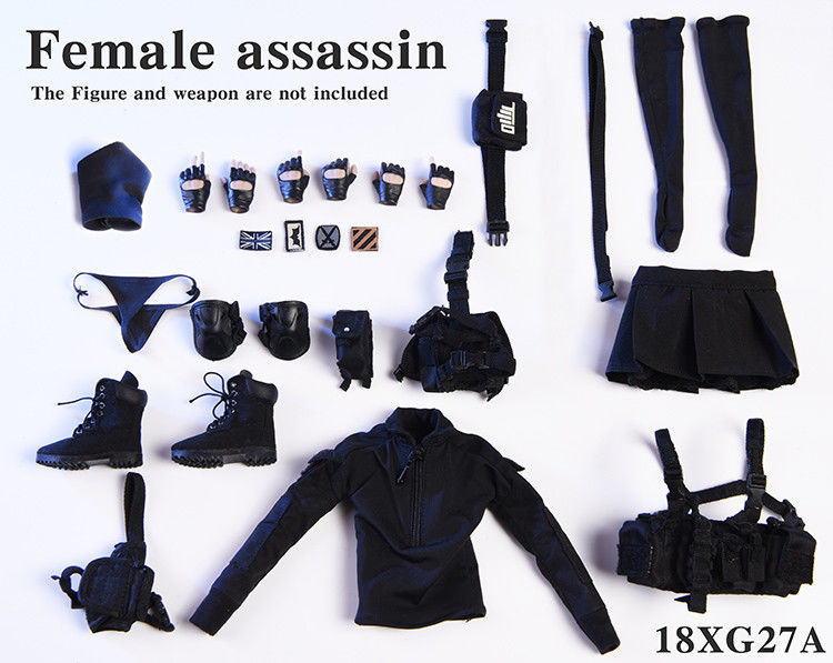 In-stock 1/6 Scale VSTOYS 18XG27 Female assassin Clothes Set