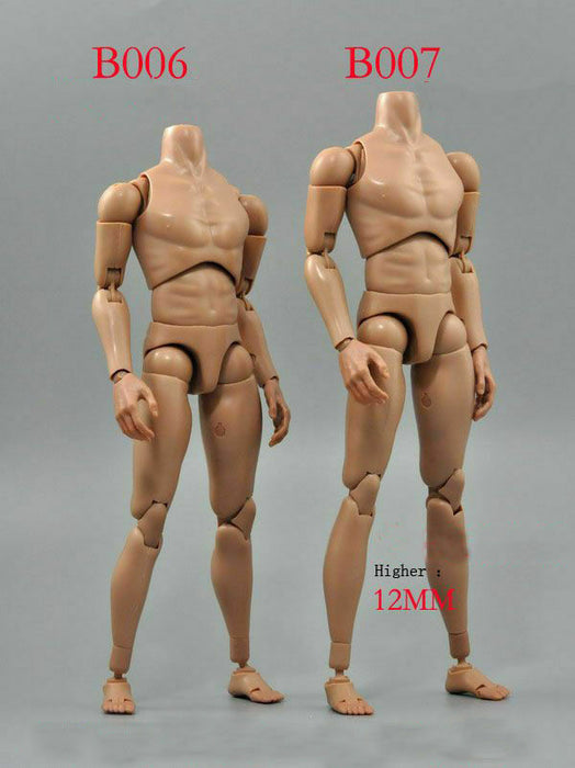 In-stock 1/6 Scale ZCTOYS B007 Male Body Slim Shoulder Higher Ver.  BW/Neck