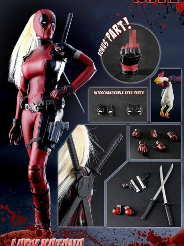 IN STOCK Toys Era CT011 1/6 Female Lady Katana DeadpooL newest action figure