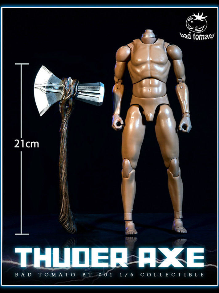 In-Stock Bad Tomato BT001 A 1/6 Scale Thunder Axe Thor A Ver. 21cm
