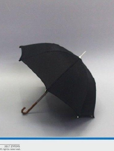 1/6 Scale Black Umbrella ZYTOYS ZY3003 For 12'' Action Figures