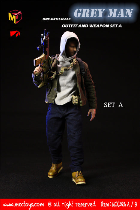 "In-stock 1/6  MCCTOYS MCC026 ""GREYMAN"" outfit and weapon set"