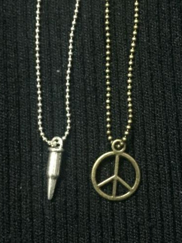 1/6 Scale 2 PCs Antiwar And Bullet Make Peace Not War Clothes Accessories