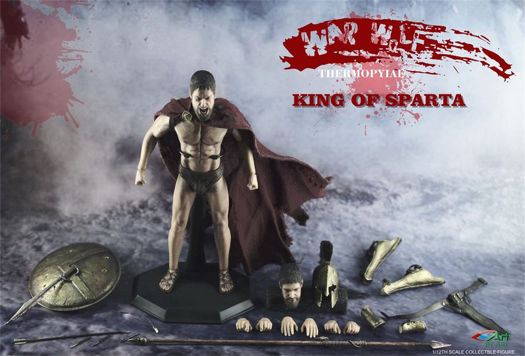 In-stock 1/12 Scale BY-ART BY-S01 KING OF SPARTA 6 in Action Figure