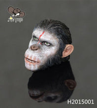 1/6 Rise of the Planet of the Apes Caesar head sculpt for 12'' action figure