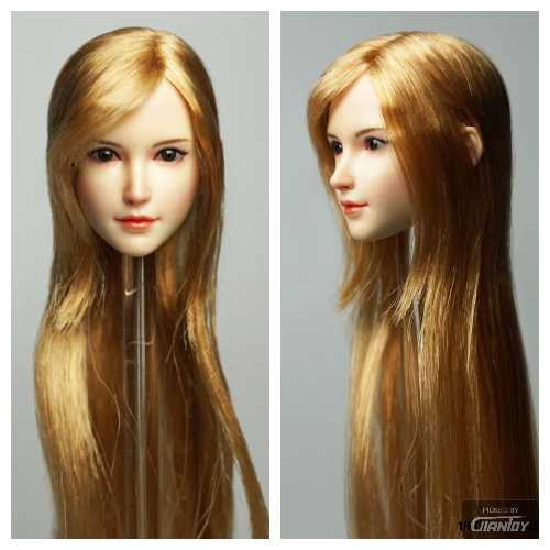 In-Stock 1/6 Scale SUPER DUCK SDH015 Female Head Sculpt H#pale Menga Style