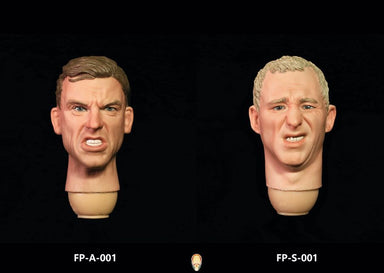 In-Stock 1/6 Scale Facepool Male Head with Expression Two Pack FP-A-001 FP-S-001