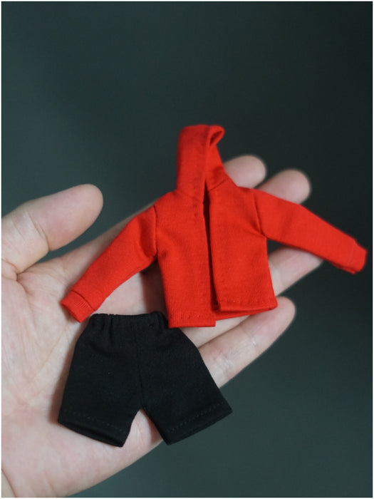 In-stock 1/12 Custom Miles Hoodie & Shorts For 6 inches figures