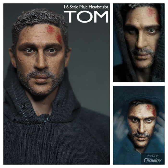 1/6 Tom Hardy Male Head damaged In-Stock