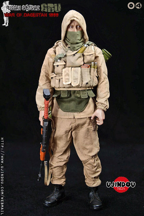 In-stock 1/6  UJINDOU UD9004  RUSSIAN SPETSNAZ GRU WAR OF DAGESTAN 1999