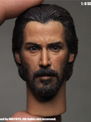 MGTOYS 1/6 The Killer John Wick Head Keanu Reeves Head
