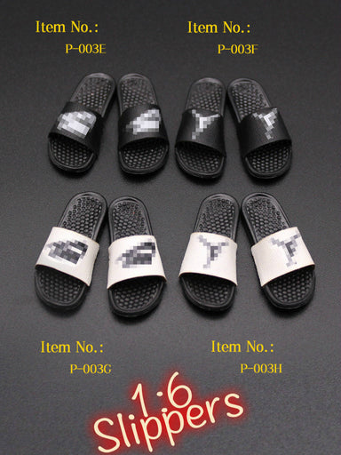 In-Stock 1/6 Scale Mini times Toys P-003 Toy Slippers Accessories A~H