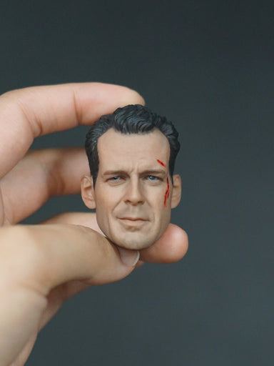 In-Stock 1/6 Scale Bruce Willis Head John Mcclane