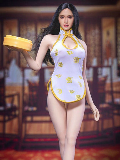 In-Stock 1/6 Scale Manmodel Ultra Short Cheogsam Dress for 12in Action Figure