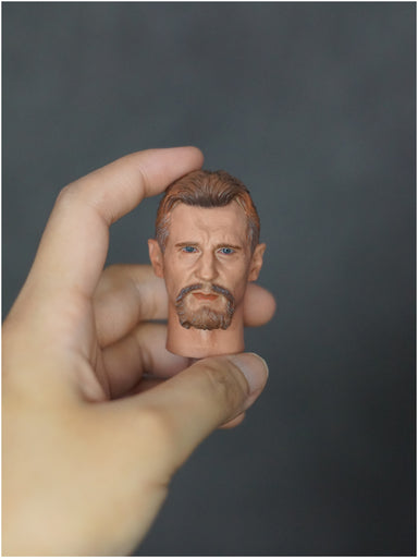In-stock YTSTOYS TYDT05 1/6 Ninja Master Liam Neeson Batman Head Sculpt