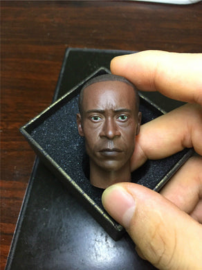 In-stock 1/6 Scale The Avengers War Machine Patriot Don Cheadle Head Sculpt