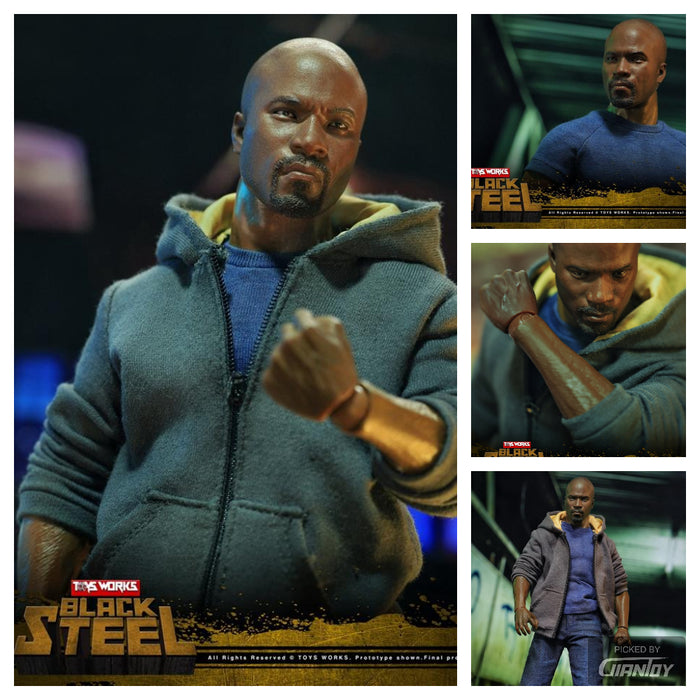 In-stock 1/6 Scale Toys Works Tw008 Black Steel 12in Movable Action Figure