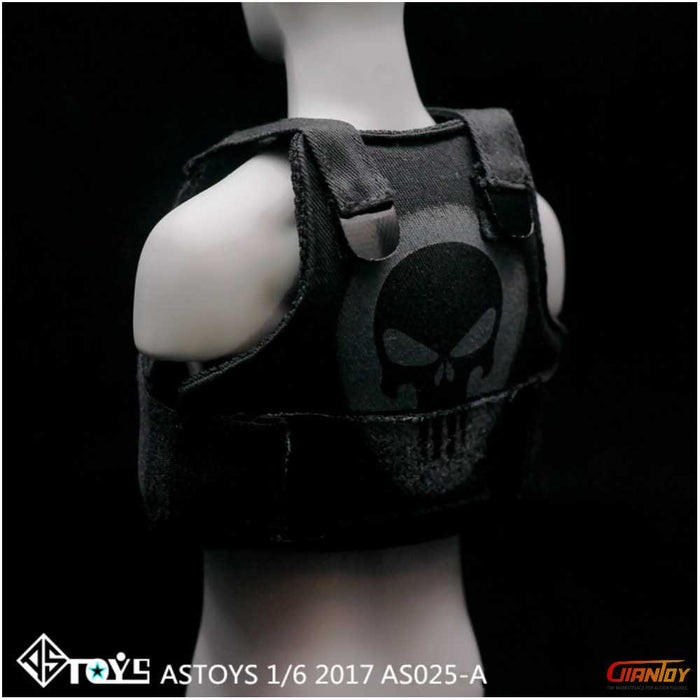 ASTOYS AS025 1/6 Punisher Skull Tactical Vest For Hot Toys Phicen 12in Figure