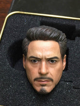 In-stock 1/6 ELITE TOYS Avengers  Iron Man Tony head Sculpture w/o neck